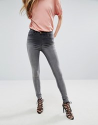 Replay Touch Super High Rise Skinny Jeans Grey