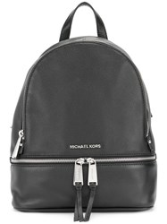 Michael Kors Multi Zips Backpack Women Leather One Size Black