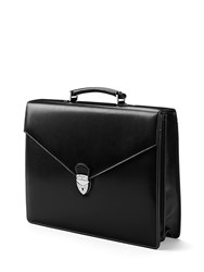 Aspinal Of London Executive Laptop Briefcase Black