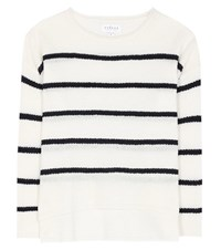 Velvet Wool And Cashmere Sweater White