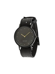 South Lane Avant Pure Watch Calf Leather Stainless Steel Black