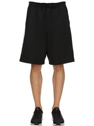Y 3 Striped Shorts W Contrasting Side Bands Black