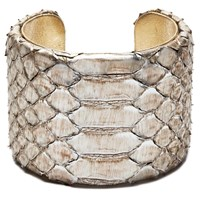Charles And Perry Snake Skin Signature Cuff Metallic Silver