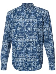 Naked And Famous Paisley Print Shirt Blue