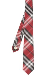 Burberry Modern Cut Vintage Check Silk Tie Red