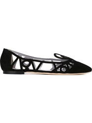 Pollini Cut Out Ballerinas Black
