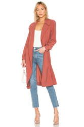 1.State Tie Waist Trench Coat Rose