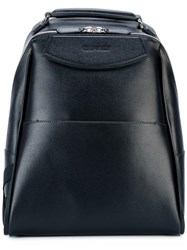 Canali Double Zip Backpack Black