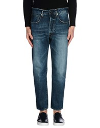 People Denim Denim Trousers Men Blue