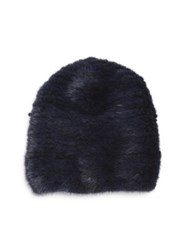 Sherry Cassin Mink Fur Hat Navy