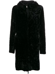 Giorgio Brato Reversible Shearling Coat Black