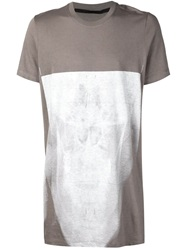 Julius Long Print T Shirt Grey