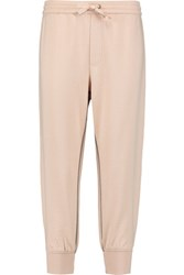 Marc By Marc Jacobs Cropped Cotton Jersey Track Pants Pastel Pink