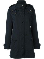 Woolrich Zipped Hooded Coat Black