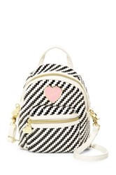 Betsey Johnson Backpack Crossbody Gray
