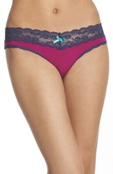 Women's Honeydew Intimates Lace Trim Low Rise Thong 3 For 30