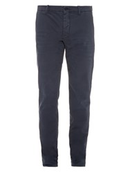 Tomas Maier Slim Fit Brushed Cotton Blend Trousers
