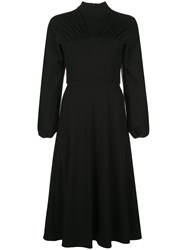 Christian Siriano Mock Neck Crepe Dress 60