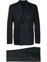 Dsquared2 Double Buttoned Two Piece Suit Blue