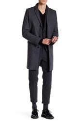 Zadig And Voltaire Notch Collar Long Coat Gray