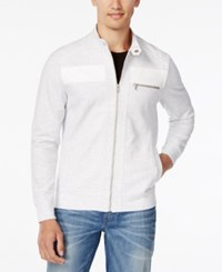 Inc International Concepts Men's Empire Pieced Full Zip Jacket Only At Macy's Whispy Grey