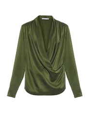 Camilla And Marc Submerge Satin Draped Front Silk Top