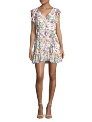 Design Lab Lord And Taylor Floral Wrap Dress White
