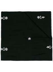 Janavi Black Jewels Embellished Merino Scarf