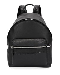 Salvatore Ferragamo Firenze Grained Leather Backpack Black