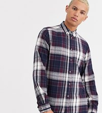French Connection Tall Multi Flannel Check Shirt Red