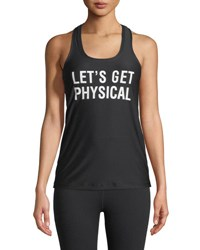 Chrldr Let's Get Physical Sports Tank Black