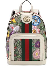 Gucci Flora Gg Supreme Small Backpack Ggsupreme Flora