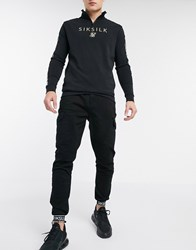 Sik Silk Siksilk Taped Cuffed Cargo Pants Black