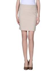 Michelle Windheuser Knee Length Skirts Beige