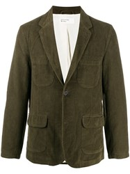 Universal Works Ribbed Fitted Blazer Green