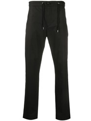 De Beers Drawstring Waist Tapered Trousers Black