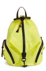 Rebecca Minkoff Julian Nylon Backpack Yellow Neon Yellow Gunmetal