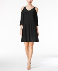 Msk Embellished Cold Shoulder Dress Black
