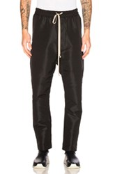 Rick Owens Drawstring Long Trousers In Black