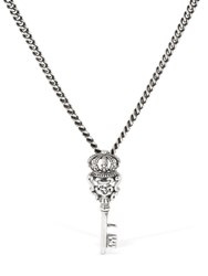 Cantini Mc Firenze Key Chain Long Necklace Silver