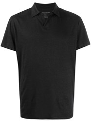 Majestic Filatures Natural Flax Polo Shirt Black