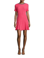 Sandro Reva Textured Sheath Dress Pink