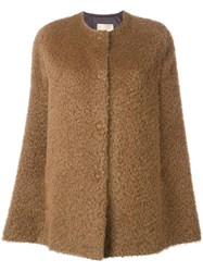 Erika Cavallini Fluffy Cape Brown