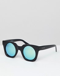 Jeepers Peepers Retro Sunglasses In Chunky Frame And Tinted Lens Black