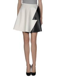 Leitmotiv Knee Length Skirts White