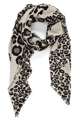 Women's Marc By Marc Jacobs Leopard Scarf Black Black Multi