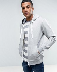 Solid Zip Up Hoodie In Grey Grey