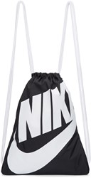 Nike Black And White Heritage Logo Gym Backpack