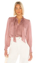 Velvet By Graham And Spencer Alanna Blouse In Pink. Blusher