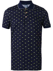 Fefe Car Print Polo Shirt Blue
